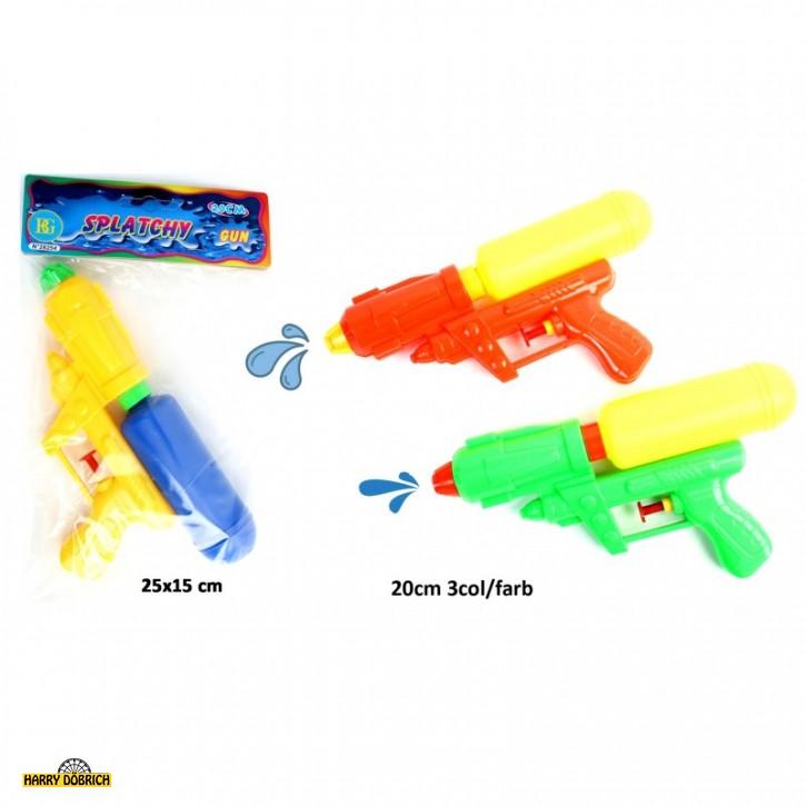 Wasserpistole mit Tank 20cm 3 Farben sortiert