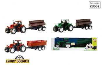 Traktor mit Anhänger 40cm 4-fach sortier
