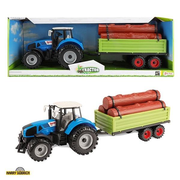 Traktor mit Holzhänger