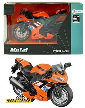 Metall  Renn Motorrad orange