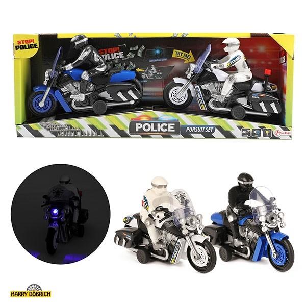 Polizeimotorrad 2er Set