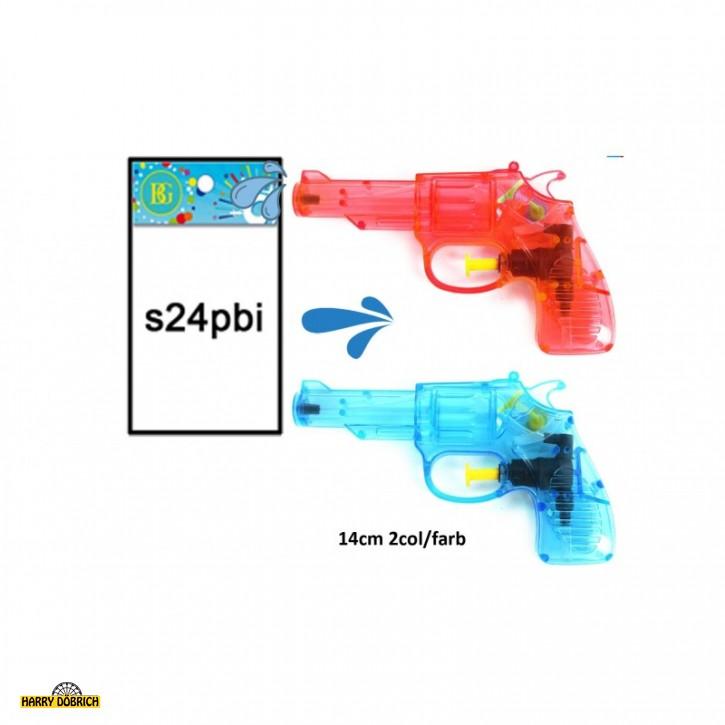 Wasserpistole Colt 14cm blau/rot sortiert