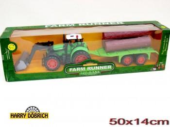 Traktor mit Hänger ca. 45cm sortiert