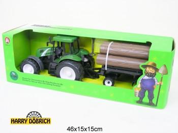 Traktor mit Holzanhänger 40cm