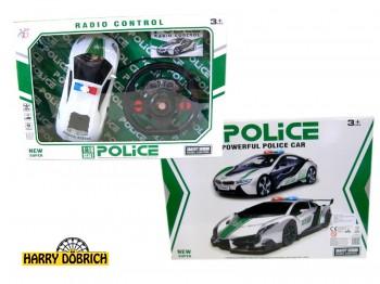 RC Police Racer mit Lenkradsteuerung