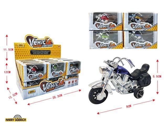 Motorrad 9x5.35cm in Box sortiert