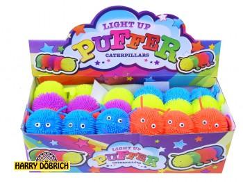 Fluffy Raupe mit Licht 13cm
