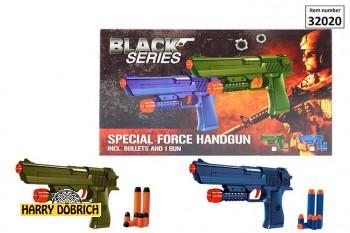 Pistole Softmunition 24cm farbig sortiert