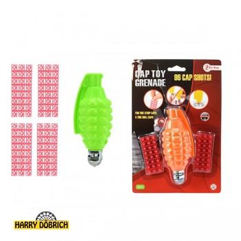 Spielzeuggranate mit 96 Schuss 2 Farben sortiert