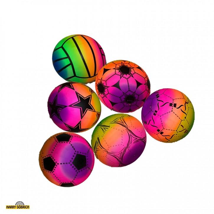 Aufblas-Ball ca.22cm neon sortiert