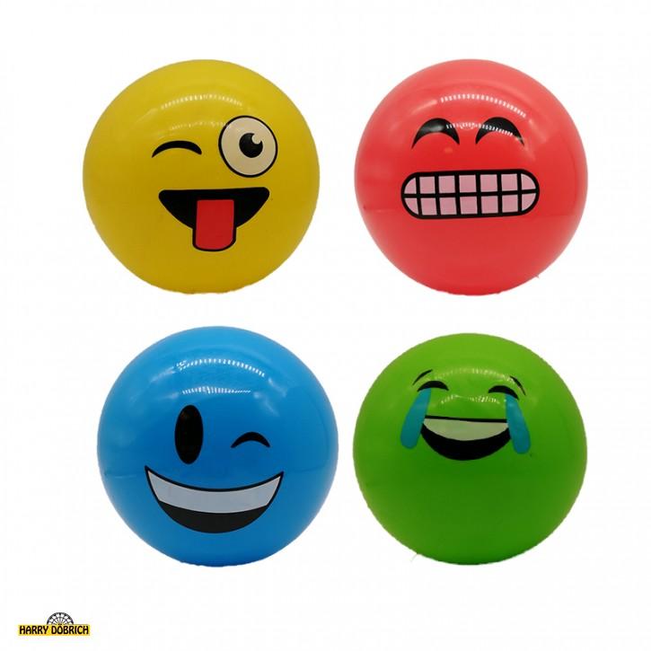 Aufblas-Ball ca. 18cm mit Gesicht farbig sortiert