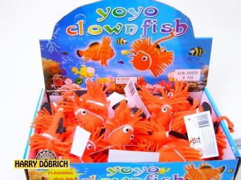Fluffy Clownfisch mit Licht 9cm