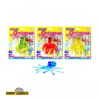 Sticky Oktopus auf Karte 4 Farben sortiert