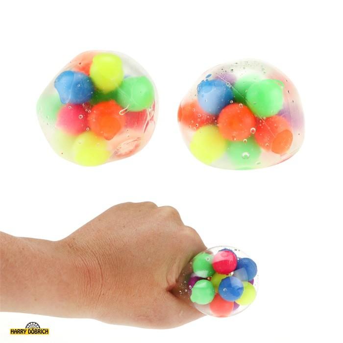 Quetschball mit Bällchen gefüllt