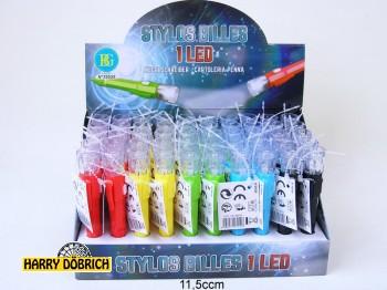 Kugelschreiber mit Led 5 Farben sortiert