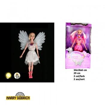 Puppe Fee 29cm mit Flügel mit Licht