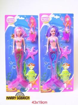 Puppe Meerjungfrau 33cm mit Licht