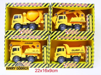 Baufahrzeuge 17cm 4-fach sortiert in Box