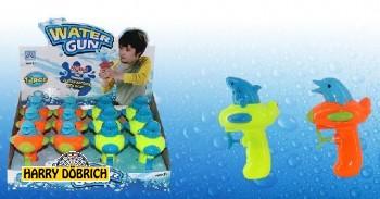 Wasserpistole mit Delfin 14cm