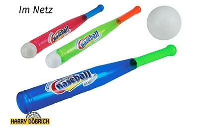 Baseballschläger 56cm mit Ball sortiert