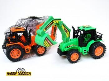 Traktor mit Baggerschaufe 2fach sort.l