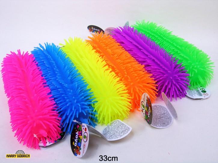 Fluffy Puffer Raupe 33cm 6 Farben sortiert