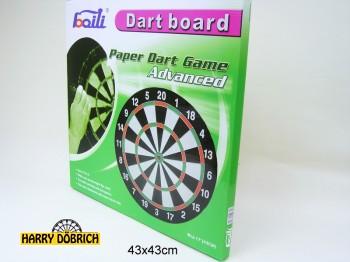 Dartspiel 43cm 6 Pfeile in Karton