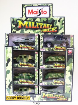 Modellauto 1:43 Military Force sortiert