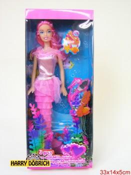 Puppe Meerjungfrau 3-fach sortiert