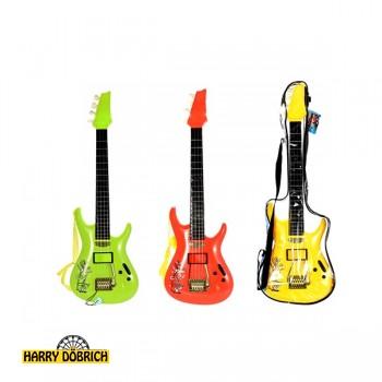 Gitarre 66cm im Beutel 3 Farben sortiert