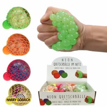 Quetschball Neon 6cm 4-fach sortiert