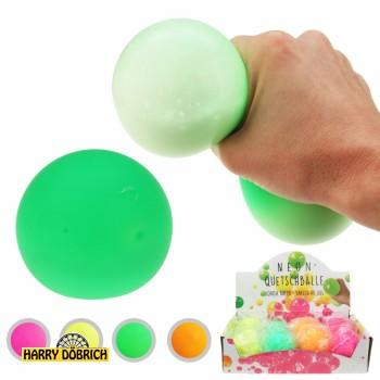 Stressball Gel neon ca. 6cm 4- Farben sortiert