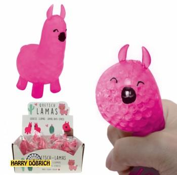 Quetschball Lama 10cm pink