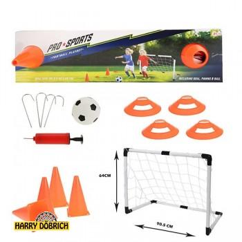 Fußballset mit Tor und Pylonen
