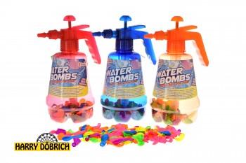 Wasserpumpe XXL mit 100 Wasserbomben