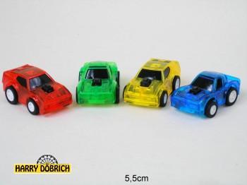 Sportwagen 5.5cm Rückzug 4-fach sortiert