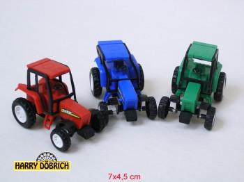 Traktor 7x5 cm im Beutel rot/grün sortiert