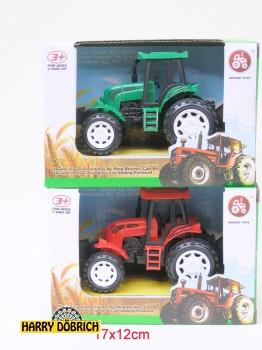 Traktor 17x8cm in Box rot/grün sortiert