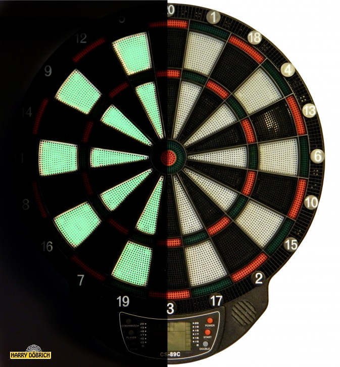 Dartspiel elektronisch Glow in the dark
