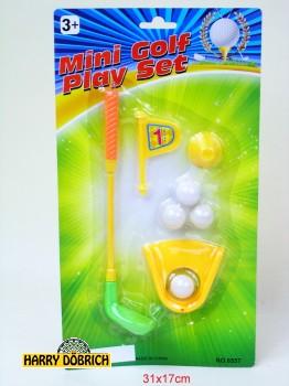 Minigolf Play Set auf Karte 8tlg