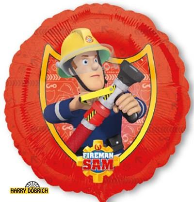 Folienballon Feuerwehrman Sam rund ca. 43cm