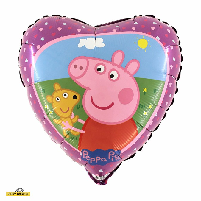 Folienballon Peppa Pig Herz