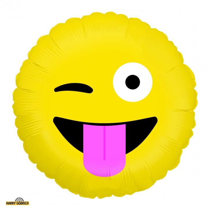 Folienballon Emoji Augenzwinkern