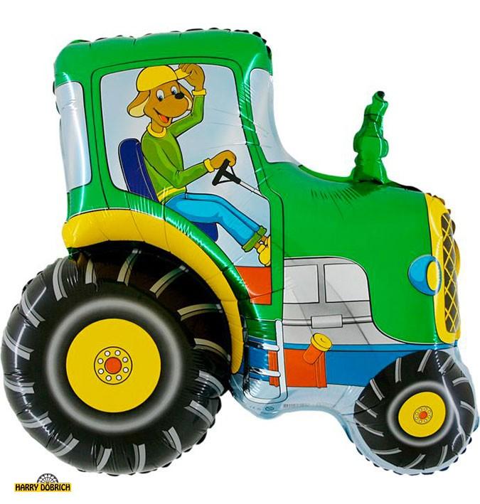 Folienballon Traktor grün