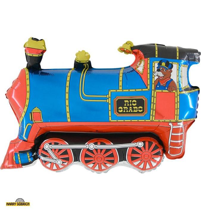 Folienballon Lokomotive blau