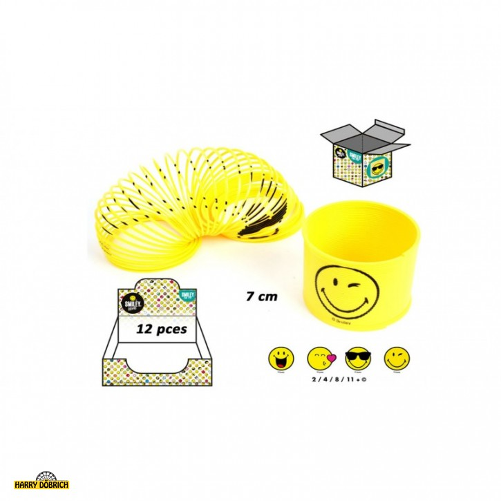 Spirale Smiley 6x7cm 4-fach sortiert