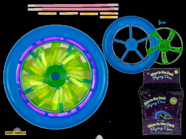 Frisbee mit Knicklichtern ca. 18cm
