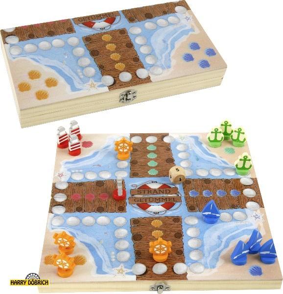 Holzspiel Vier gewinnt Strandgetümmel