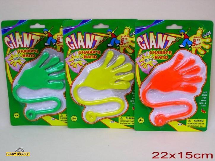 Klatsch-Hand neon auf Karte