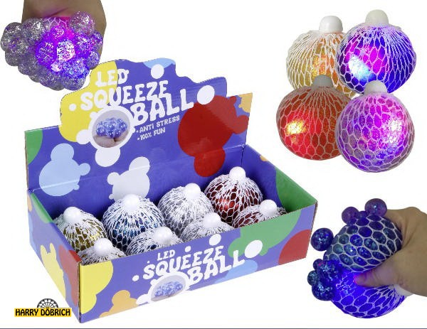 Quetschball 8cm Glitter sortiert
